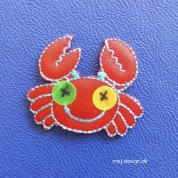 Rød krappe strygemærke 3,5x4,5 cm