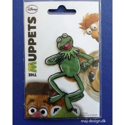 Kermit Muppet show Broderet strygemærke 9,5 x 6 cm