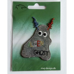 Alien Ghost strygemærke 8x5,5 cm