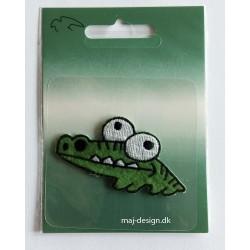 Krokodille strygemærke 6x3 cm