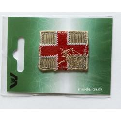 Flag broderet strygemærke 4x5 cm