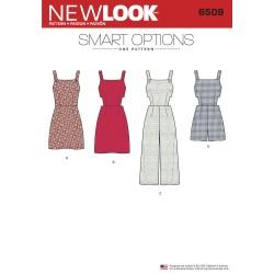 Buksedragt m/åben sider og stropper New Look snitmønster