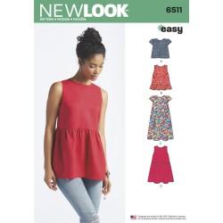 Sommerkjole og tunika New Look snitmønster easy
