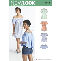 Kjole og bluse New Look snitmønster
