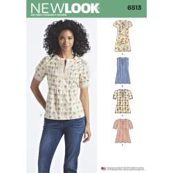 Kjole og tunika New look snitmønster