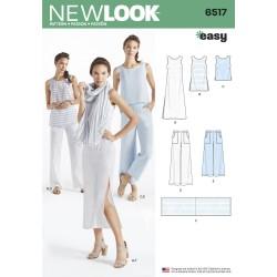Strandkjole, bukser og tørklæde New look snitmønster easy
