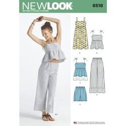 Bukser, shorts , kjole og top New look snitmønster