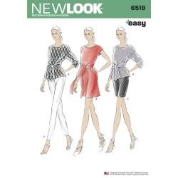 Tunika shorts og kjole New look snitmønster easy