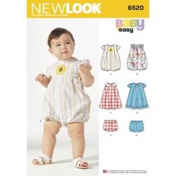 Babykjole babydragt og bukser New look snitmønster easy