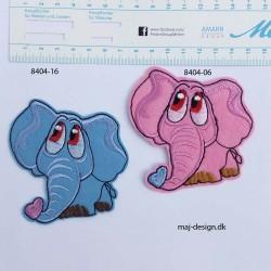 Elefant strygemærke 7,5x8 cm