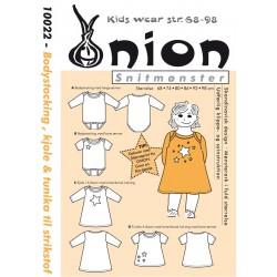 Bodystocking, kjole og tunika til strikstof onion snitmønster