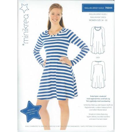 Raglan Jersey kjole også plusmode minikrea snitmønster