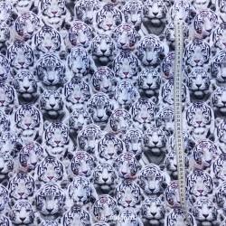 Hvide Tigere Digital print metervare