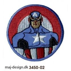 Captain America broderede strygemærke
