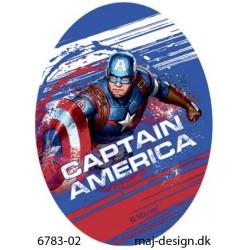 Captain America strygemærke ovalt 11 x 8 cm