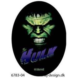 Hulk strygemærke ovalt 11 x 8 cm