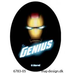 Genius printet strygemærke