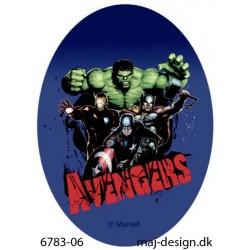 Hulk med flere strygemærke ovalt 11 x 8 cm