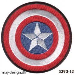 Captain America skjold broderede strygemærke