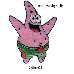 Patrick Søstjerne strygemærke 6 x 7,5 cm