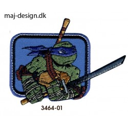 Teenage Mutant Ninja Turtles strygemærke 6,5 x 8,5