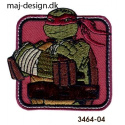 Teenage Mutant Ninja Turtles strygemærke 6,5 x 6,5 cm