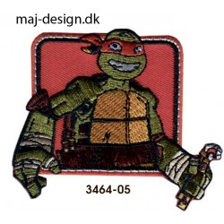 Teenage Mutant Ninja Turtles strygemærke 6 x 6 cm