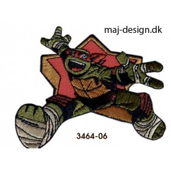 Teenage Mutant Ninja Turtles strygemærke 7 x 8,5 cm