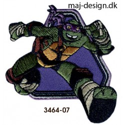 Teenage Mutant Ninja Turtles strygemærke 7 x 7,5 cm