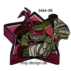 Teenage Mutant Ninja Turtles strygemærke 7,5 x 7 cm