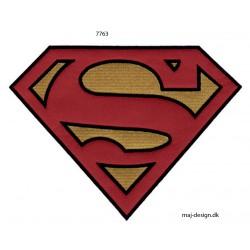 Stort Superman logo strygemærke 20 x 15 cm