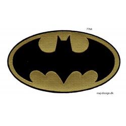 Stort Batman logo strygemærke 20 x 11 cm