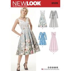 Selskabskjole med lommer New look snitmønster 6526