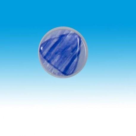 Knap m/øje blå m/trekant 16mm