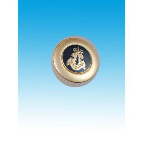 Knap m/øje Våbenskjold guld 24mm