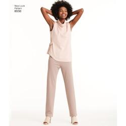 Bluse og nederdel New look snitmønster 6530