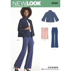 Kort jakke, top og bukser New look snitmønster