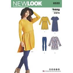 Leggings, kjole og tunika New look snitmønster