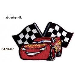 Cars 3 McQueen strygemærke 8 x 5 cm
