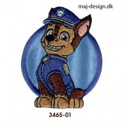 Chase Paw Patrol broderet strygemærke 5,5 x 7 cm
