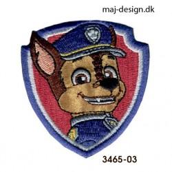 Chase Paw Patrol broderet strygemærke 6 x 6,5 cm