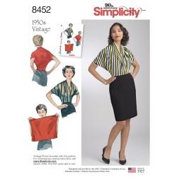 Vintage 1950ére Bluse simplicity snitmønster