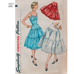 1950ére Underkjole og skørt simplicity snitmønster 8456