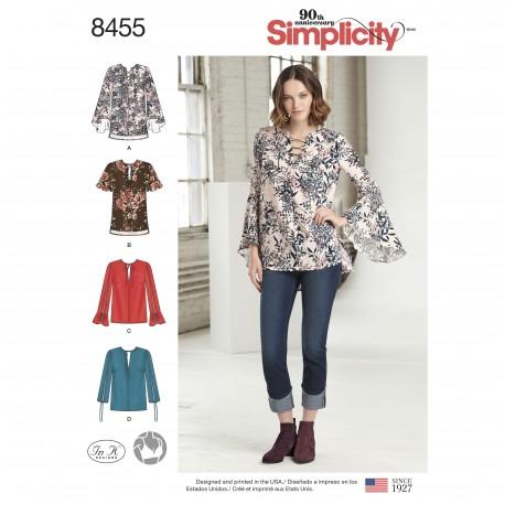 Bluse simplicity snitmønster 8455