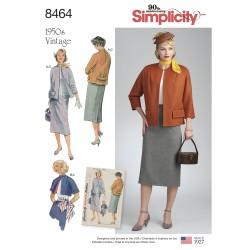 1950ére vintage nederdel og jakke også plusmode simplicity snitmønster 8464