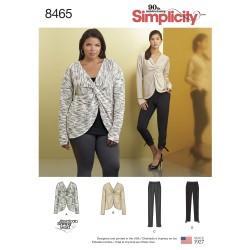 Bluse/trøje og bukser simplicity snitmønster 8465