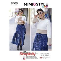 Nederdel og kort bluse også plusmode simplicity snitmønster