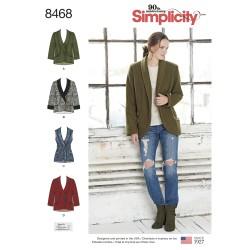 Kort jakke og vest simplicity snitmønster