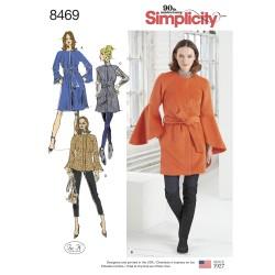 Kort frakke og jakke simplicity snitmønster