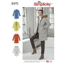 Kort frakke simplicity snitmønster
